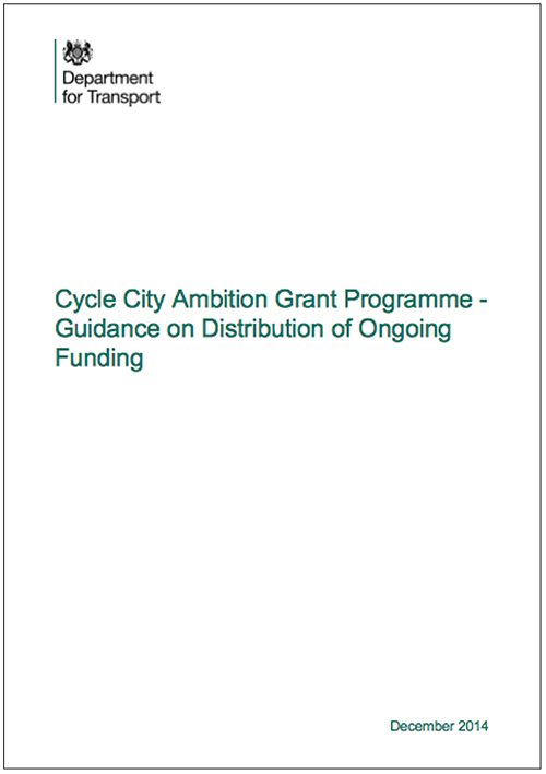 Cycle City Ambition Grant Programme - Guidance on Distribution of Ongoing Funding