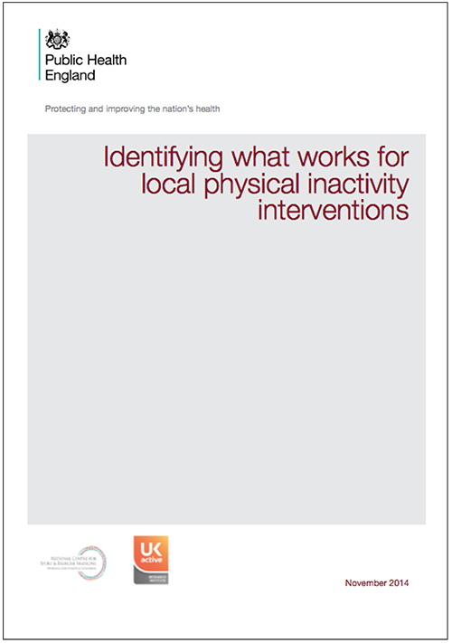 Public Health England - Identifying what works for local physical inactivity interventions